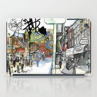 broadway iPad Cases featuring Broadway, the Divide by Elke Reva Sudin