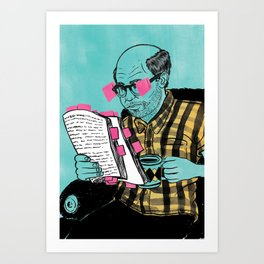 Post it notes Art Print