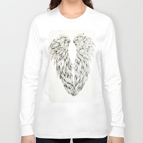 Inked Angel Wings Long Sleeve T-shirt