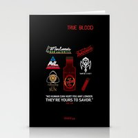 true blood Stationery Cards featuring True Blood Logos by CLM Design
