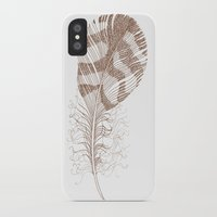 feather iPhone & iPod Cases featuring The Solitary Feather by Sandra Ireland