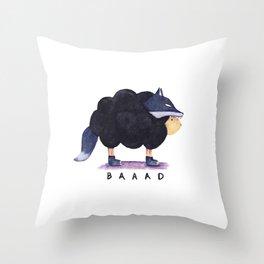 Baaad Baaad Black Sheep Throw Pillow