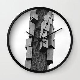cozy neighborhood Wall Clock