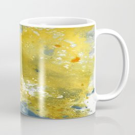 Abstract Acrylic Painting YELLOW Coffee Mug