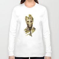 groot Long Sleeve T-shirts featuring Groot by Colien