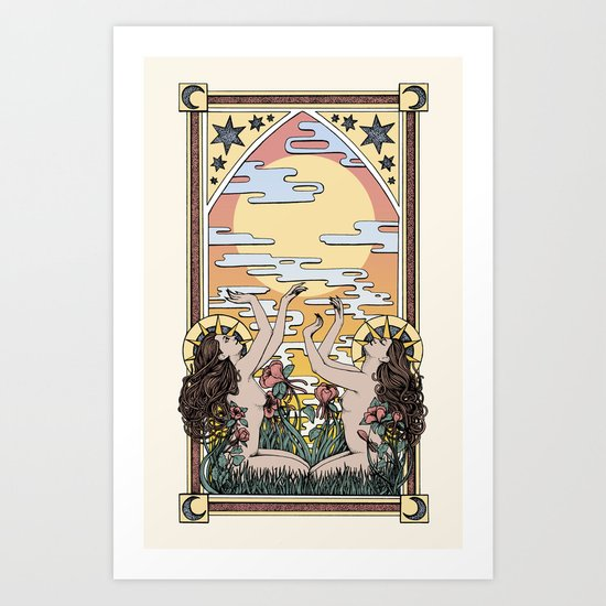 My Goddess Is The Sun Art Print