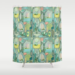 Cacti Terrariums Shower Curtain