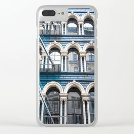 NY Blue Clear iPhone Case