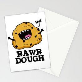 Rawr Dough Cute Food Pun Stationery Cards
