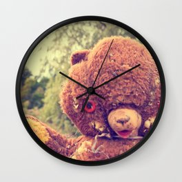 Creepy Teddy Wall Clock