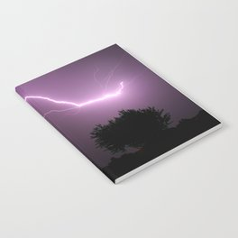 Purple Lightning Night Sky Notebook