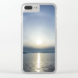 Halo over ice of lake Baikal Clear iPhone Case