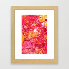 Abstract Paint Phone Case Framed Art Print