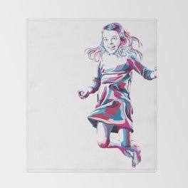 Little Girl Throw Blanket
