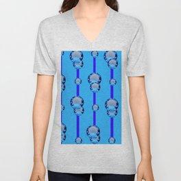 BLUE TOPAZ GEMS MODERN ART DESIGN Unisex V-Neck