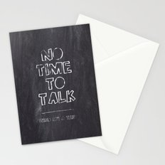 No Time To Talk - Send me a text Stationery Cards