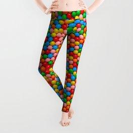 Mini Gumball Candy Photo Pattern Leggings
