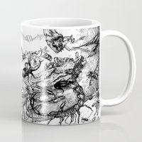 fight Mugs featuring Fight by Emile Denis