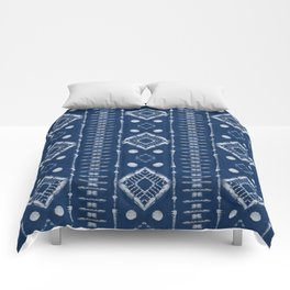 "Shibori Style ""Ladder"" Comforters"