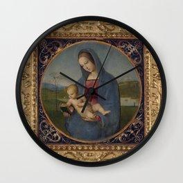 """Raffaello Sanzio da Urbino """"The Conestabile Madonna """", 1504 Wall Clock"""