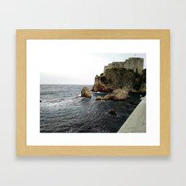 Castle on the Sea Framed Art Print