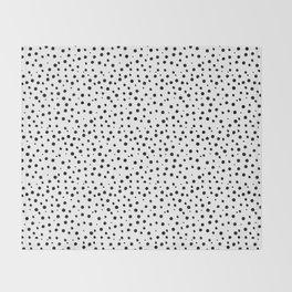 Tiny Doodle Dots Throw Blanket