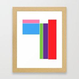 Color Test 1 Framed Art Print