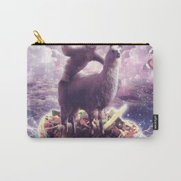 Space Sloth Riding Llama Unicorn - Pizza & Taco Carry-All Pouch