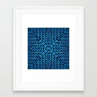 knit Framed Art Prints featuring Knit Reflection by Katie Troisi