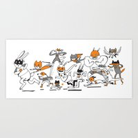 There are Super Heroes Everywhere Art Print