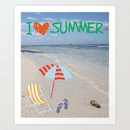 I love Summer Art Print