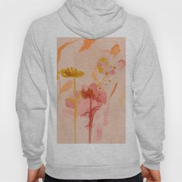 Abstract Watercolor Floral Hoody