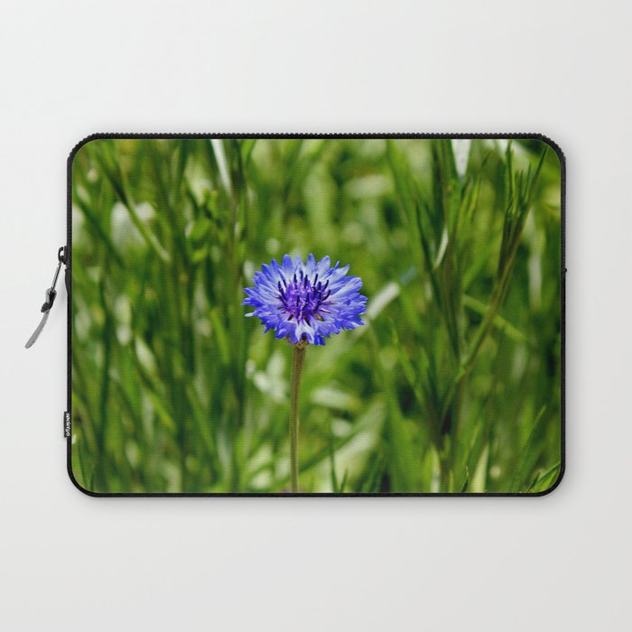 Blue Cornflower Laptop Sleeve