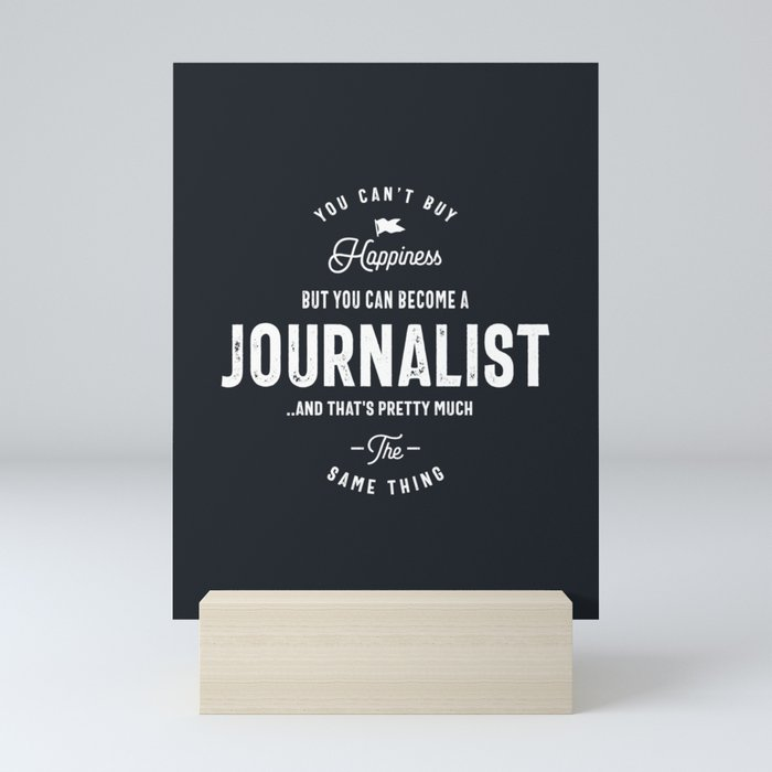 Happiness Journalist Mini Art Print
