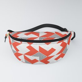 Marble Red Blocks Fanny Pack