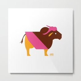 Year of The Ox Metal Print