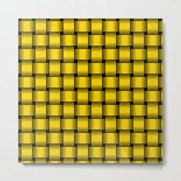 Gold Yellow Weave Metal Print