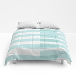 Big Stripes In Turquoise Comforters