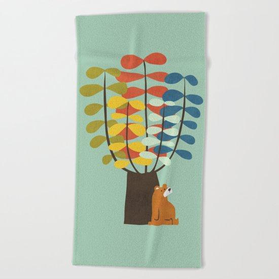 Shady Tree Beach Towel