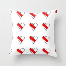 flag of strasbourg 2 Throw Pillow