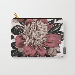 Peony vintage styled pattern with leafs and flowers Carry-All Pouch