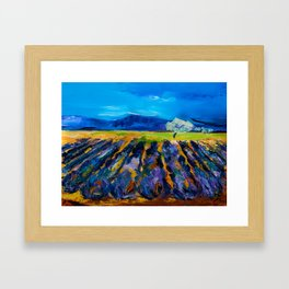 Lavender Field Framed Art Print