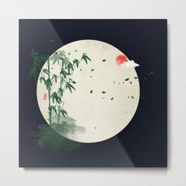 bamboo in the moonlight Metal Print
