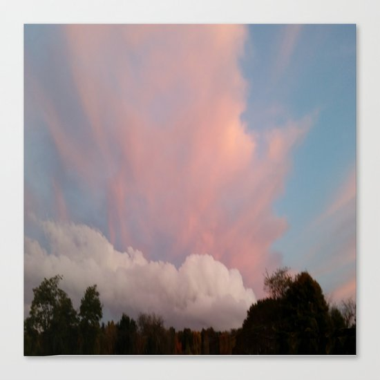 Dance of Two Clouds Canvas Print