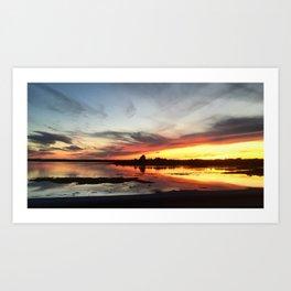 Drive-By Sunset Art Print