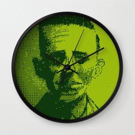 H.P. Lovecraft Gameboy Pixel Portrait Wall Clock