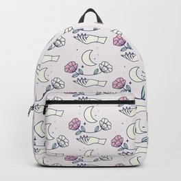 Magical hand and two flowers Backpack