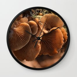 Among the Mushrooms 1 Wall Clock