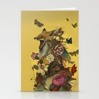 lady gaga Stationery Cards featuring Fox Confessor by Lindsey Carr