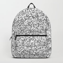 Tiny Spots - White and Gray Backpack